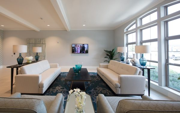 Resident lounge area in The Blake at Malbis