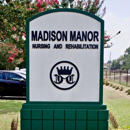 Madison Manor Nursing Home entrance sign