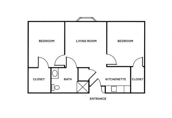 Morningside of Troy 2 bedroom floor plan