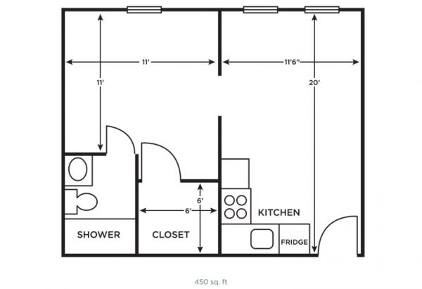 Morningside of Vestavia Hills one bedroom floor plan
