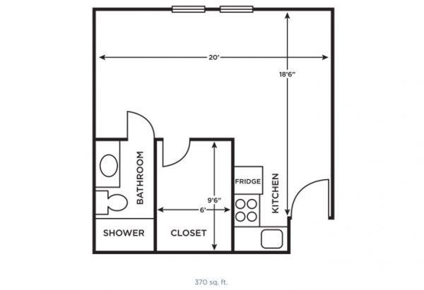 Morningside of Vestavia Hills large studio floor plan