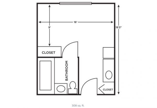Morningside of Vestavia Hills small studio floor plan