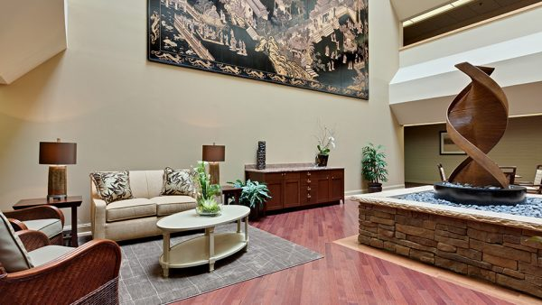 Lobby and common area in The Oaks at Whitaker Glen