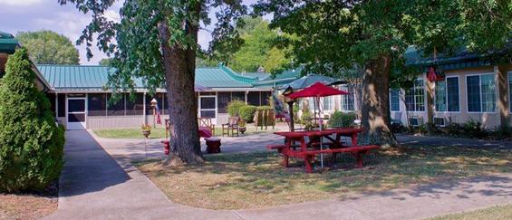Patio area outside of Madison Manor Nursing Home