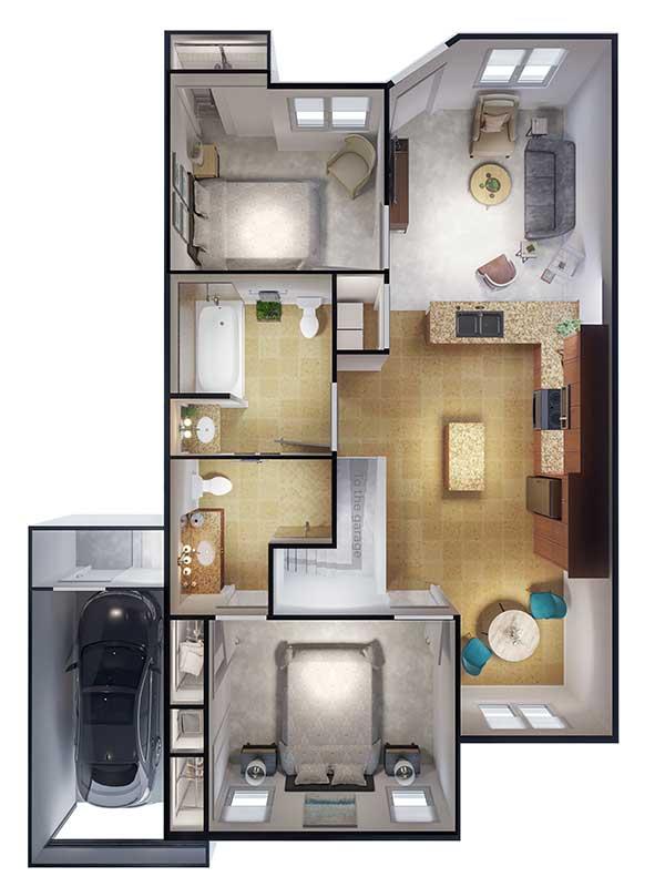 Ponte Palmero floor plan 2