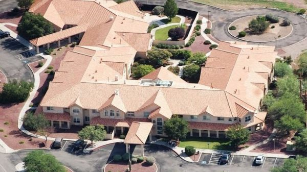 Prestige Assisted Living at Green Valley aerial view of property and grounds