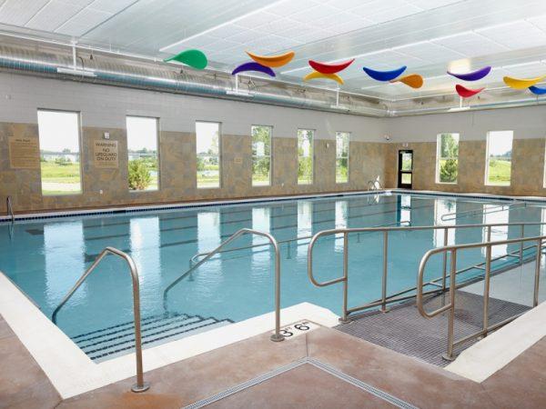 Indoor swimming pool in SilverCreek on Main