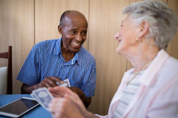 Madison Manor Nursing Home, LLC residents playing cards