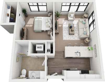 St. Rita Square penthouse floor plan