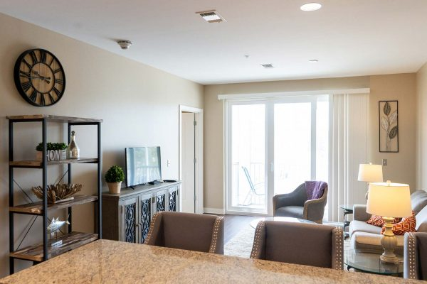 The Arbors of Gulf Breeze model living room