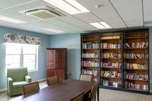 The library in The Arbors of Gulf Breeze