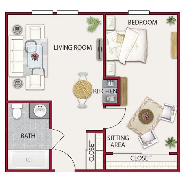 Hilltop Commons floor plan 3