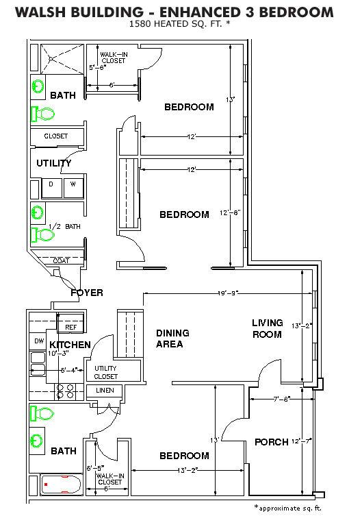 The Methodist Oaks walsh floor plan