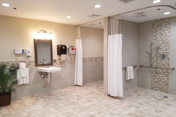 Haven of Yuma bathroom with walk in showers