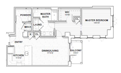 The Barclay at SouthPark Davidson floor plan