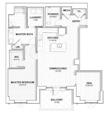 The Barclay at SouthPark Graham floor plan