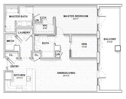 The Barclay at SouthPark Jackson floor plan