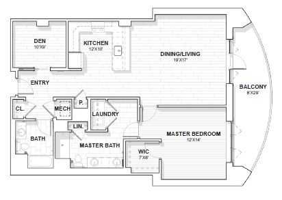 The Barclay at SouthPark Jamestown floor plan