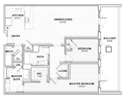 The Barclay at SouthPark Jefferson floor plan