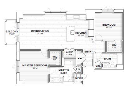 The Barclay at SouthPark Lattimore floor plan