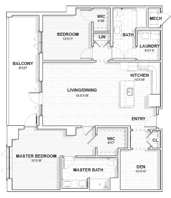 The Barclay at SouthPark Plymouth floor plan