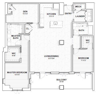The Barclay at SouthPark Salem floor plan