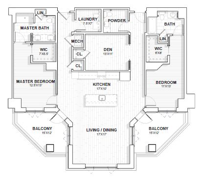The Barclay at SouthPark Wingate floor plan