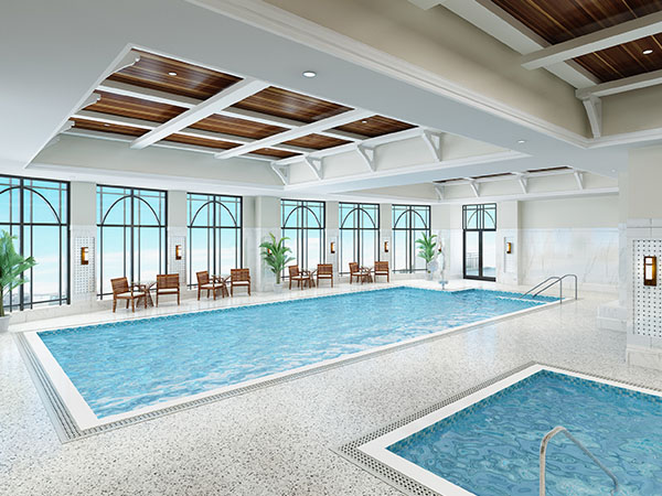 Indoor swimming pool at The Barclay at SouthPark