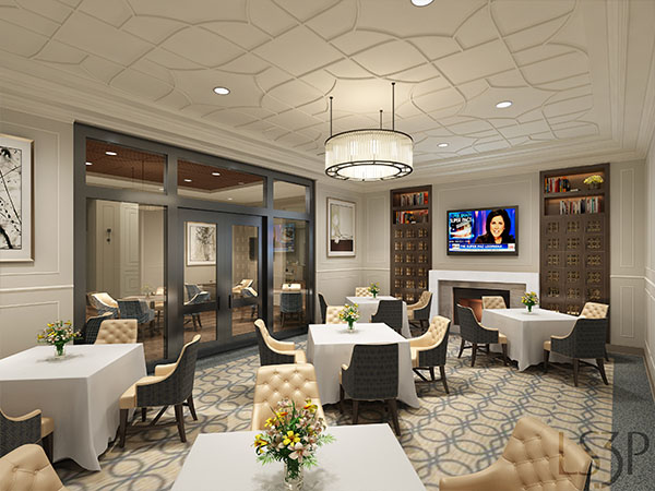 The Barclay at SouthPark private dining room