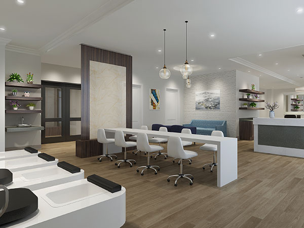 Spa and salon in The Barclay at SouthPark