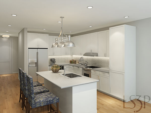 The Barclay at SouthPark model kitchen