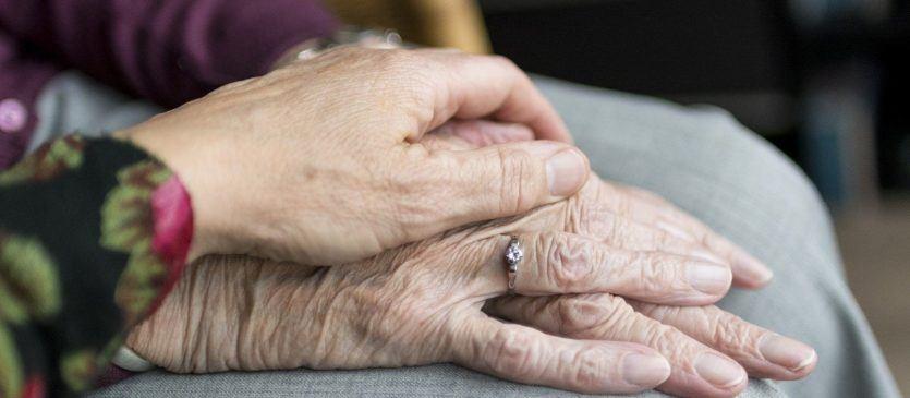 Senior women hands