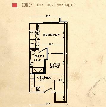 Bay Port of Fort Walton Beach floor plan 1